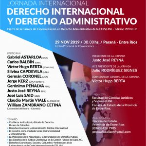 Jornadas Internacionales: Derecho Internacional y Derecho Administrativo