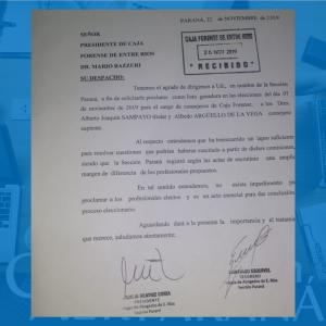 El CAER sección Paraná realizó un nuevo pedido a la Caja Forense