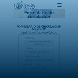 Formulario de circulación para clientes