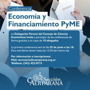 Curso sobre «Economía y Financiamiento PyME»