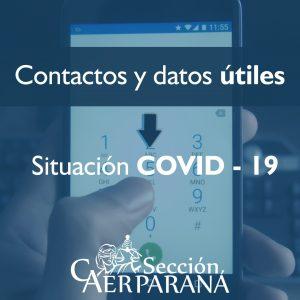 Contactos e información útil durante la cuarentena