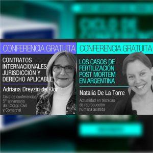 Se encuentran disponibles las conferencias de las Dras. Adriana Dreyzin de Klor y Natalia De La Torre