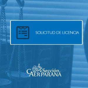 Formulario de Solicitud de Licencia