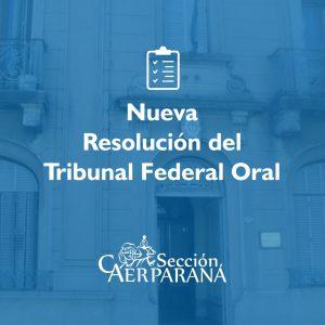Nueva resolución del Tribunal Oral Federal