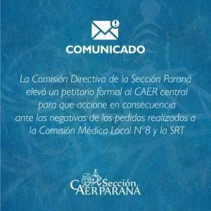 Comunicado a las y los colegas de la Sección Paraná