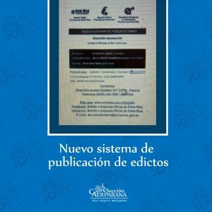Nuevo sistema de publicación de edictos