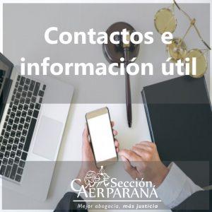 Teléfonos y correos electrónicos para agendar