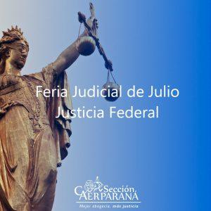 Feria en la Justicia Federal