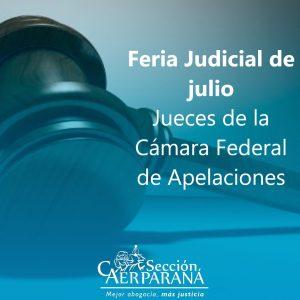 Jueces de la Cámara Federal de Apelaciones durante la Feria Judicial