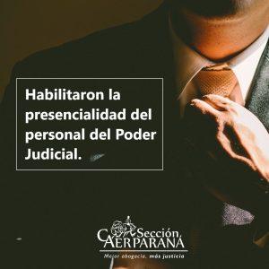 El STJ habilitó la presencialidad de los agentes judiciales
